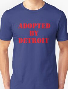 Adopted By Detroit™ Red Lettering T-Shirt