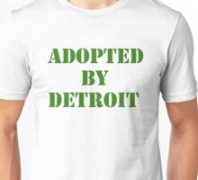 Adopted By Detroit™ Green Lettering  Unisex T-Shirt