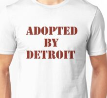 Adopted By Detroit™ Brown Lettering  Unisex T-Shirt