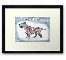 Anatomy of a Pit Bull Framed Print