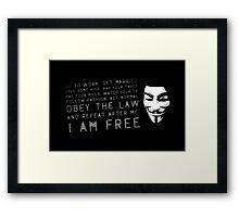 Mask Of Vengeance  Framed Print