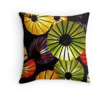 Oriental lanterns Throw Pillow