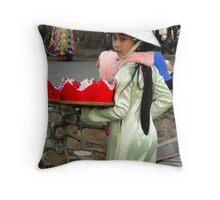 Girl in Hoi An Throw Pillow