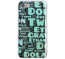 Dolan Twins word collage iPhone Case/Skin