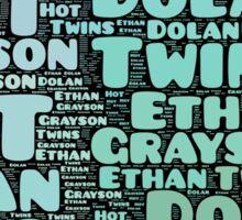 Dolan Twins word collage Sticker