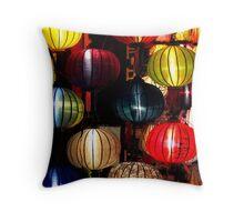 Balls of colour Throw Pillow