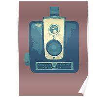 Classic Hawkeye Camera Design in Blue Poster