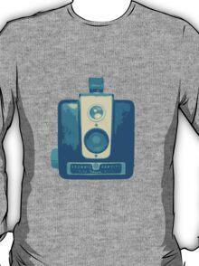 Classic Hawkeye Camera Design in Blue T-Shirt