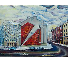 Winter in city Photographic Print
