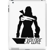 Explore I - White Background iPad Case/Skin