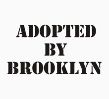 Adopted By Detroit™ Presents Adopted By Brooklyn Black Lettering  Kids Clothes