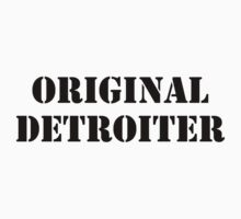 Adopted By Detroit™ Presents Original Detroiter Black Lettering Kids Tee