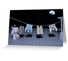 Lunar Laundry Day Greeting Card