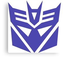 Transformers Decepticons Logo Canvas Print