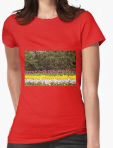 colorful flower garden Womens Fitted T-Shirt