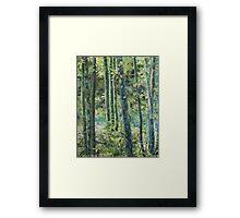 Trees of Riverbanks Framed Print