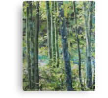 Trees of Riverbanks Canvas Print