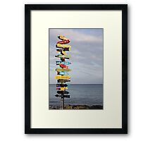Show Me the Way to Go Home Framed Print