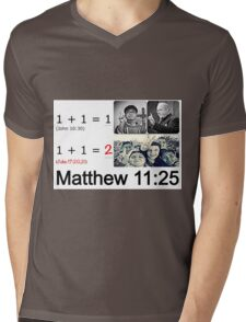 Matthew 11:25 Mens V-Neck T-Shirt