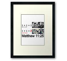 Matthew 11:25 Framed Print
