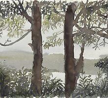 Smith's Lake Trees by Thomas Kayser