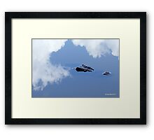 Crocodile Reflections in mirror water Framed Print
