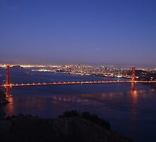 golden gate bridge at nite by sme327