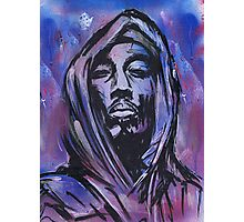 2pac with Hood Graffiti Art Photographic Print