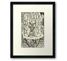 Brushin a Skull Empire Framed Print