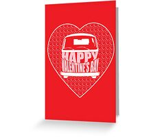 Valentine's Day VW Camper Bay Red Greeting Card