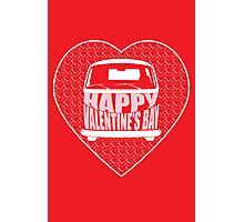 Valentine's Day VW Camper Bay Red Photographic Print