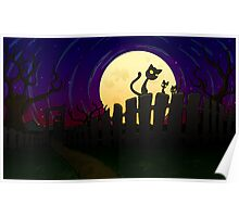 Halloween Fence Poster