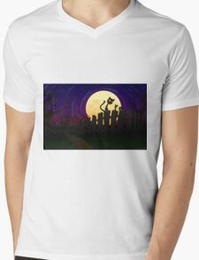 Halloween Fence Mens V-Neck T-Shirt