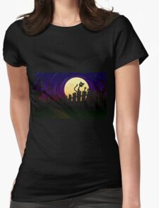 Halloween Fence Womens Fitted T-Shirt