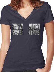 Knock, knock. Women's Fitted V-Neck T-Shirt