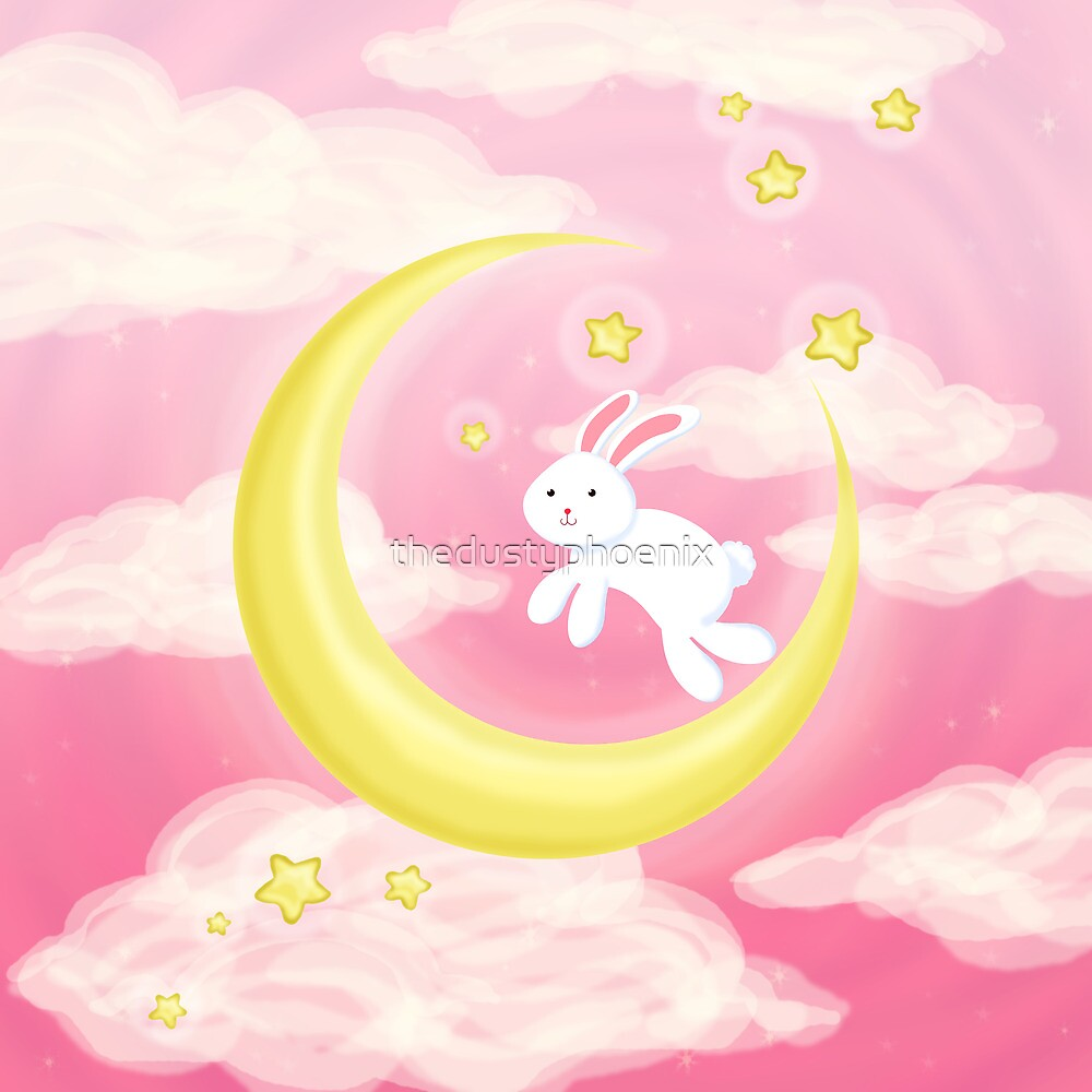 Moon Bunny Pink by thedustyphoenix