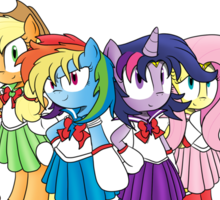 The Sailor Ponies Are Here! Sticker