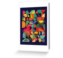 Color Blocks Greeting Card