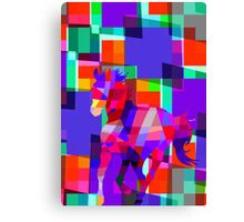 Cool Horse Vector Colorful Design Canvas Print