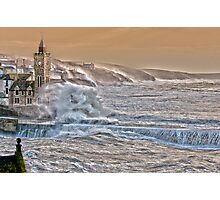 Porthleven Storm 6.1.14 - a slightly different take..... Photographic Print