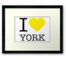 I ♥ YORK Framed Print