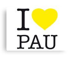 I ♥ PAU Canvas Print
