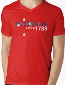 AUSTRALIA EST. 1788 Mens V-Neck T-Shirt