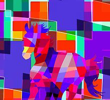 Cool Horse Vector Colors And Shapes T-Shirt Prints and Stickers by Denis Marsili - DDTK