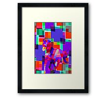 Cool Horse Vector Colors And Shapes T-Shirt Prints and Stickers Framed Print