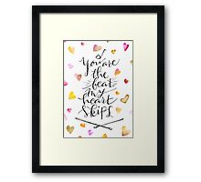 You are the beat my heart skips Framed Print