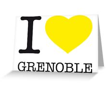 I ♥ GRENOBLE Greeting Card