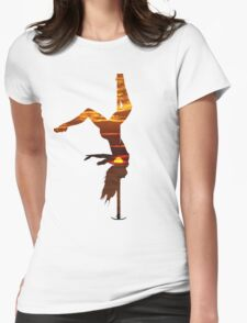 SUNSET STRIPPER Womens Fitted T-Shirt