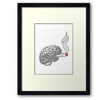 Joint Smoking Brain Framed Print