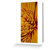 Imagination in Hot, Vivid Yellows Greeting Card